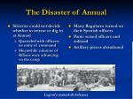 the disaster of annual