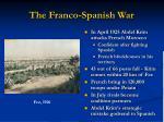 the franco spanish war