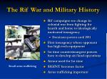 the rif war and military history
