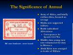 the significance of annual