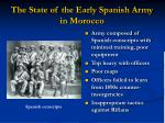 the state of the early spanish army in morocco