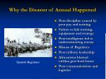 why the disaster of annual happened