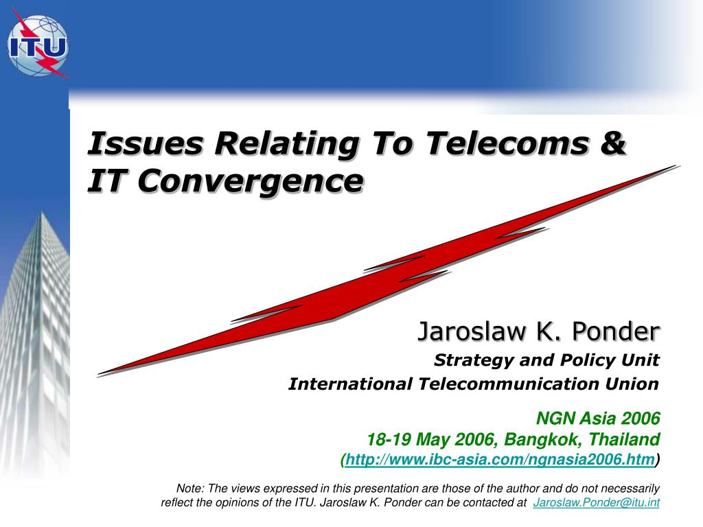 issues relating to telecoms it convergence l.