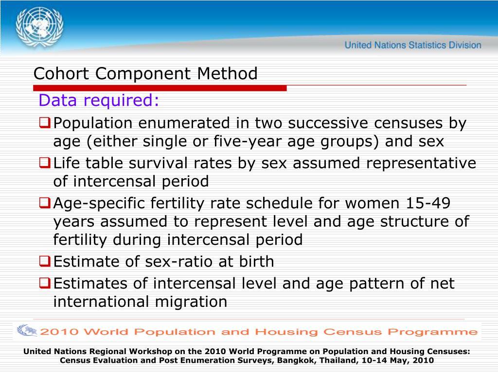 Cohort Component Method