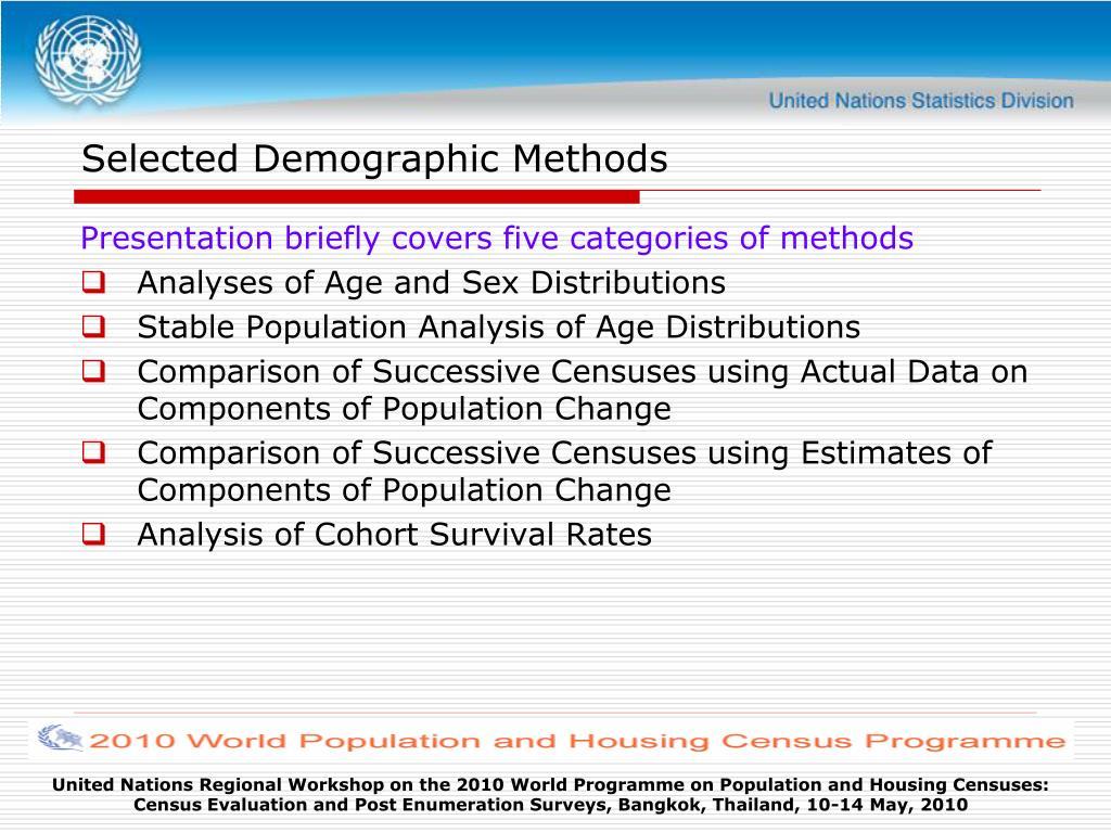 Selected Demographic Methods