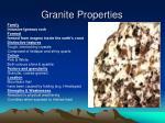 granite properties