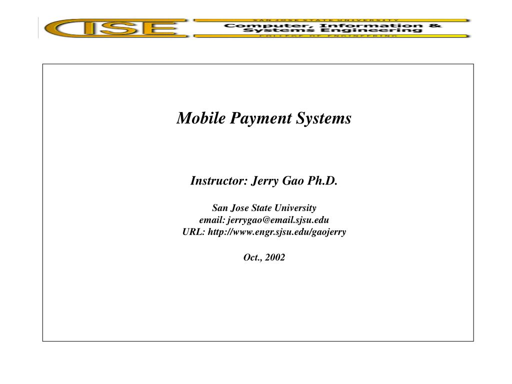 mobile payment systems l.