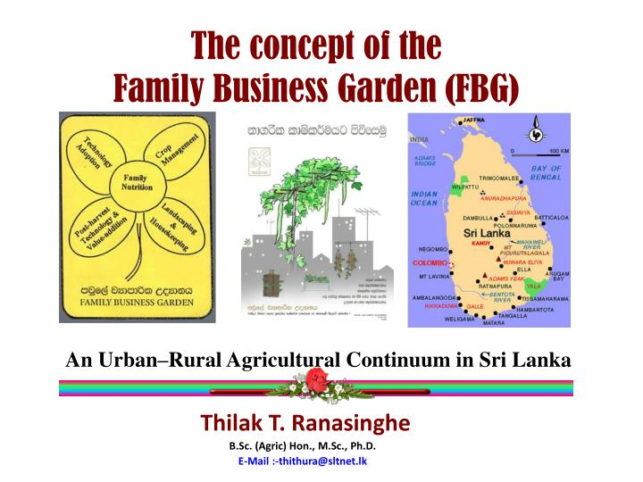 the concept of the family business garden fbg n.