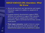 nidcd k08 k23 orl awardees what we know