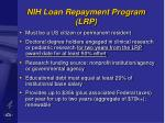 nih loan repayment program lrp41