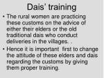dais training