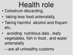 health role36
