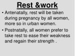 rest work