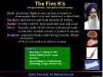 the five k s unique identity discipline spirituality