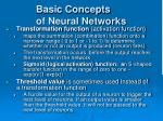 basic concepts of neural networks16