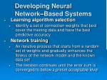 developing neural network based systems28