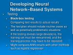 developing neural network based systems29