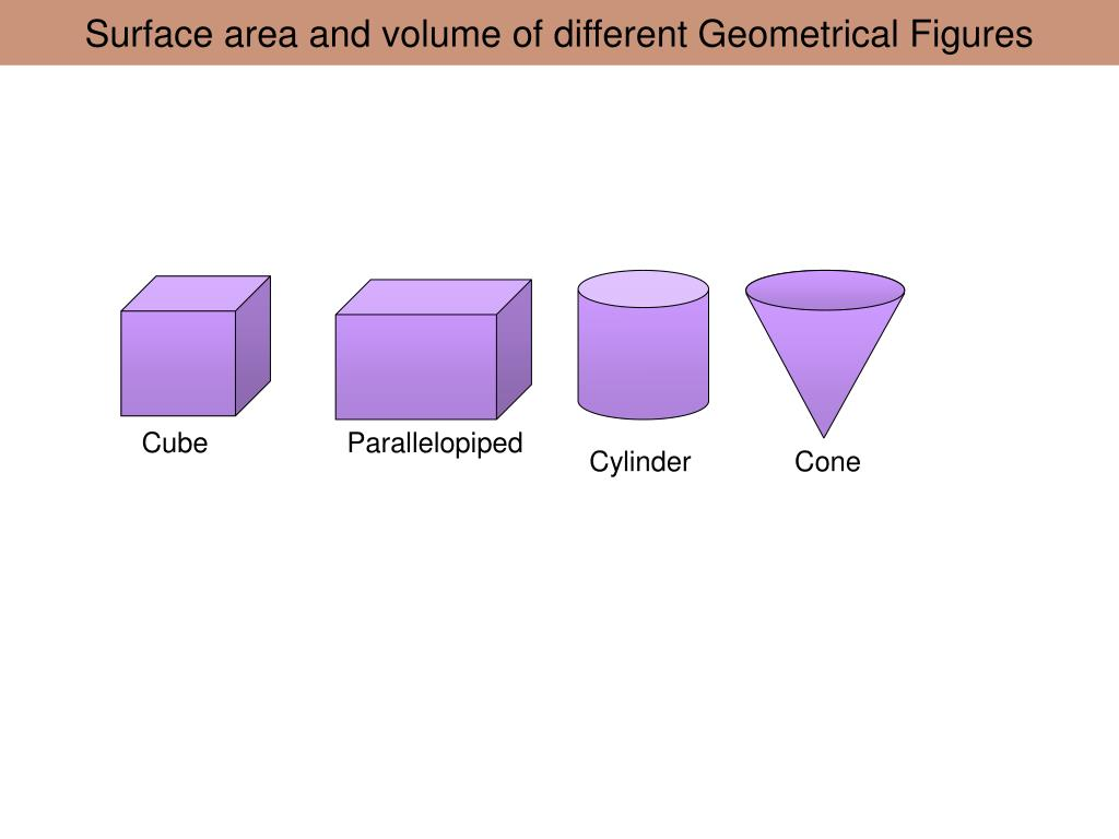 surface area and volume of different geometrical figures l.