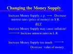 changing the money supply