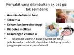 penyakit yang ditimbulkan akibat gizi tak seimbang