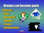 dreams can become goals