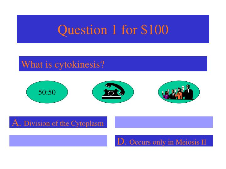 Question 1 for 100
