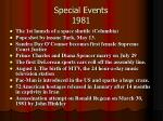 special events 1981