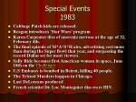 special events 1983