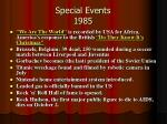 special events 1985
