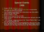 special events 1986