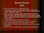 special events 1987