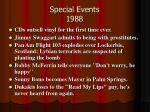 special events 1988