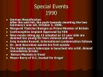 special events 1990