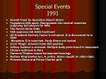 special events 1991