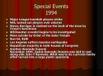 special events 1994