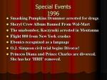 special events 1996