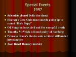 special events 1997