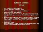 special events 1998