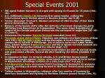 special events 2001