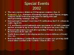 special events 2002