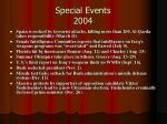 special events 2004