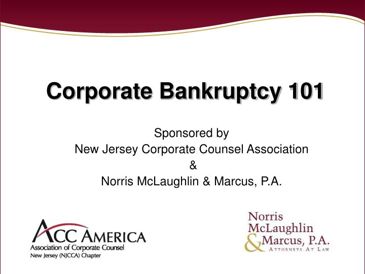 corporate bankruptcy 101 n.