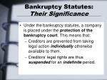 bankruptcy statutes their significance