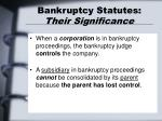 bankruptcy statutes their significance1