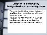 chapter 11 bankruptcy reorganizations accounting issues1