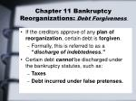 chapter 11 bankruptcy reorganizations debt forgiveness