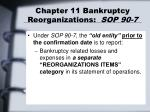 chapter 11 bankruptcy reorganizations sop 90 75