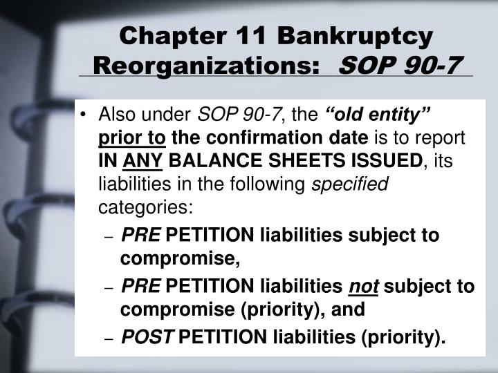 Chapter 11 Bankruptcy PPT - CHAPTER 1...