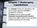 chapter 7 bankruptcy liquidations