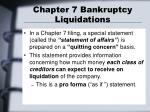 chapter 7 bankruptcy liquidations1